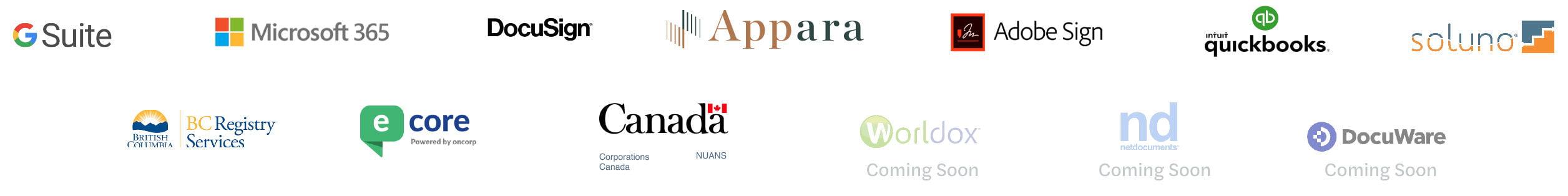 Appara Partner Logos